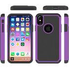 Hot Bubble Hardcase i TPU plast og Silikone til iPhone X - Purple