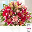 Blumenstrau Karat mit Vase