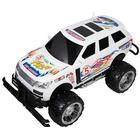 Fjernstyret rally bil - 35 cm lang - Hvid - med mange flotte detaljer