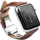 Apple Watch (42mm) QIALINO Læder Rem inkl. Stifter - Brun