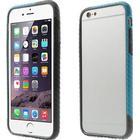 iPhone 6 / 6s 3-farvet Bumper Cover Grå/Sort/Blå