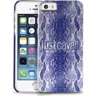 Just Cavalli Cover iPhone SE / 5 / 5s Crystal Python Blå / Lilla