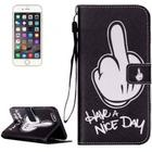 iPhon 6 Cover m/Print: Have a nice day - Sort.