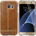 Pierre Cardin Læder Dækket Samsung Galaxy S7 Edge Cover - Brun