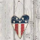 Stort metal hjerte med USA flag