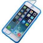iPhone 6/6S TPU cover med plast skærmcover. Blå.