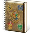 Pyramid International Hogwarts Notesbog med alle emblemer