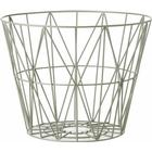 FermLiving Wire Basket Dusty Green Small