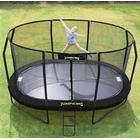 JumpKing Trampolin Oval BLACK 5,2 x 4,25 mtr. inkl. net
