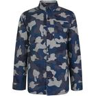 BARBOUR Camouflage Button Jacket - Navy - Large