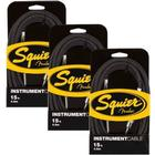 Squier By Fender - 3 Pack Guitar Instrument Jack Cable (4,5 M.)