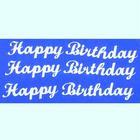 Efco Hobbysticker 10 x 23 cm - silver Happy Birthday