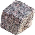 Chaussesten håndhugget granit, Rødgrå 9*9*8/10 cm
