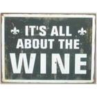 Emalje skilt - It's all about the wine