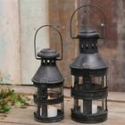 Industriel lanterne i antik kul