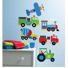 Wallsticker Planes and trains