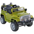 ToyandModelStore Jeep Wrangler Style Kids Ride On Toy Car 12V Electric With Parental Control Green
