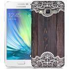 Skal till Samsung Galaxy A3 (2015) - Mörkt trä med spetsmönster