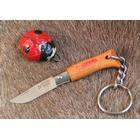 Opinel nr. 2 nøglering foldekniv rustfri bøgetræ