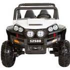 AZENO 12V Jungle Racer, 4X45W. Motorer, 2 pers. Gummihjul hvid