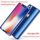 360 Degree Full Plating Phone Cases For iPhone X 10 Luxury Electraplating Cover Case For iPhone X 10 8 7 6 6s Plus Case