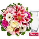 Blumenstrauß Glücksmoment mit Vase