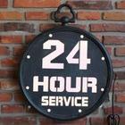"Lys skilt ""24 Hour Service"