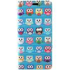 iPhone X Cover m. Pung Farvede Ugler Turkis