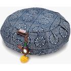 Chattra Zafu Meditation Cushion - Navy Bandhani