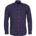 Barbour M's Henry Shirt Tailored Fit Navy