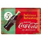 Coca-Cola metalskilt, 1950erne