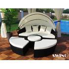Polyrattan Lounge Sol-ø 180cm sort havesæt