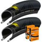 Continental 2 Grand Prix 4000S II 700 x 25c Tyres and 2 Contin - Elithjul