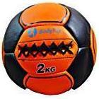 BodyRip 10-Inch Leather Medicine Balls - Black/Orange, 2kg