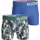 Björn Borg Summer Palm Cotton Stretch Shorts 2-pack Blue/Green