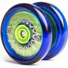 Blue and green - Yoyofactory Hubstack responsive yoyo weighted designed for tricks inc 3 bearings