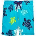 Vilebrequin Moorea Multicolor Turtles Swim Shorts Azzure