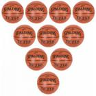10 stk Spalding TF 250 In/Outdoor Basketbolde str.5