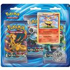 Pokémon XY - Evolutions Boosters 3 Booster Packs with Braixen Pin