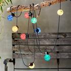 LED Party Lyskæde Med 10 Farvede LED Lys - Type Forlængerkæde