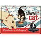 Nostalgic-Art Tin Sign, 10x 14cm 10219Say It 50's Clever Cat
