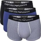 Armani - 3-pack Pure Cotton Trunk Black/Blue
