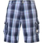SoulCal Checked Cargo Shorts - Navy/Blue/White