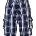 SoulCal Checked Cargo Shorts Navy/Blue/Bay (47813983)