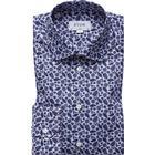 Eton Palm Print Poplin Shirt Blue