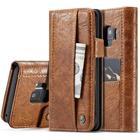Samsung Galaxy S9 - CASEME Vintage læder pung / cover - Brun