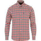 Barbour Lifestyle Moss Tailored Fit Flannel Shirt Red