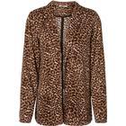 PIECES Leopardprintet Blazer Kvinder Brun