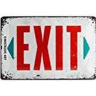 Nostalgic Art 22218 Exit Warning Sign 20 x 30 CM