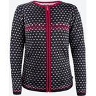 Kama Alva Merino Sweater m. dragkedja, dam, black